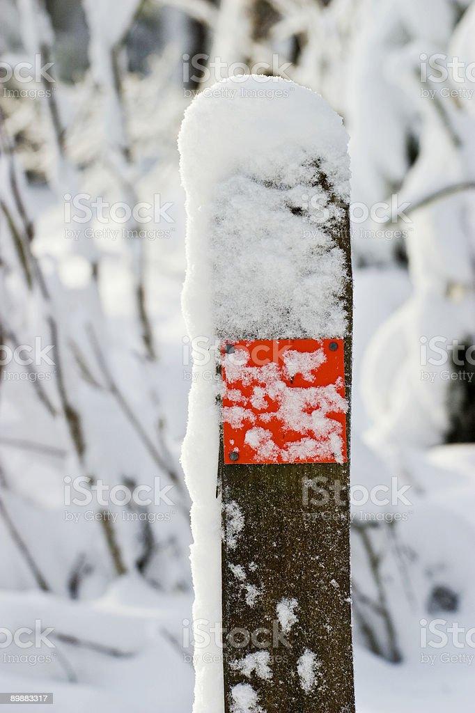 Trail mark royalty-free stock photo