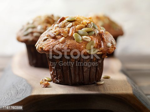 Trail Mix Carrot Muffin with Nuts and Seeds