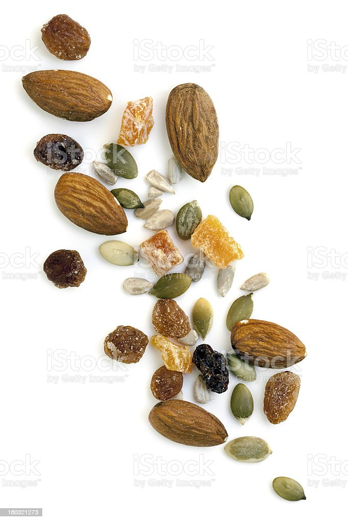 Trail Mix Isolated stock photo