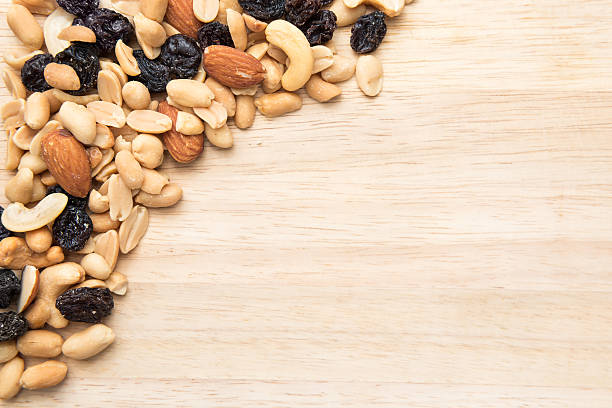 Trail mix seed background stock photo