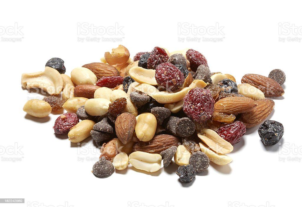 Trail Mix with Dried Cranberries stock photo