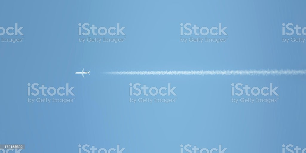 trail of a jet royalty-free stock photo
