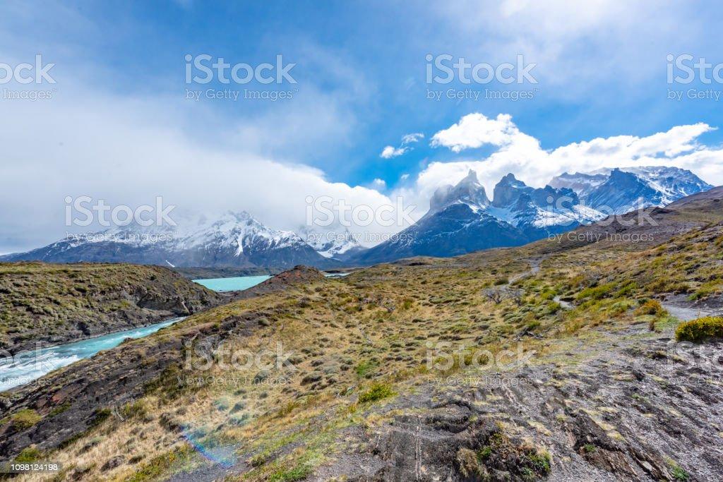 Trail Of Hosteria Pehoe At Parque Nacional Torres Del Paine