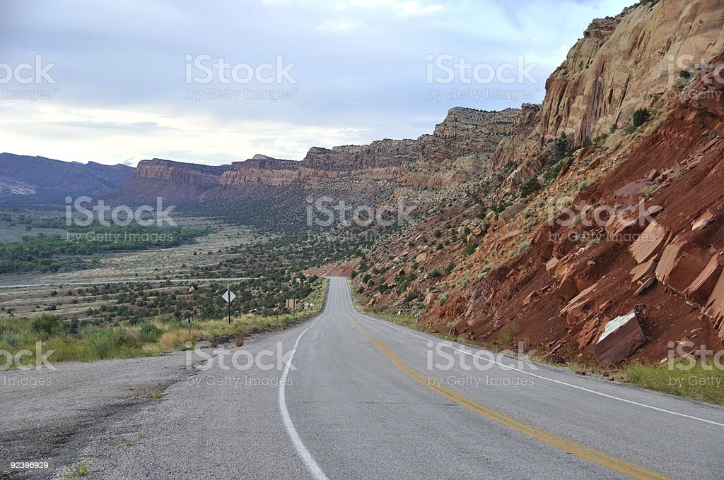 Trail of the Ancients Road - Utah stock photo