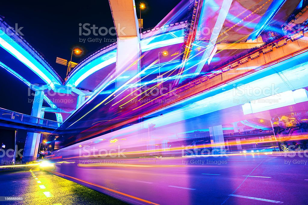 trail of traffic royalty-free stock photo