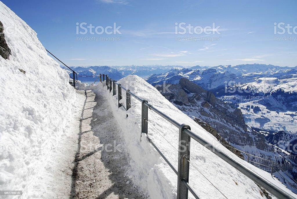 Trail on Mountain Säntis, Switzerland royalty-free stock photo