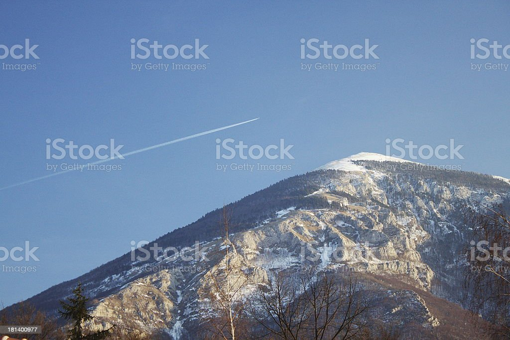 Trail over Mountain Rtanj royalty-free stock photo