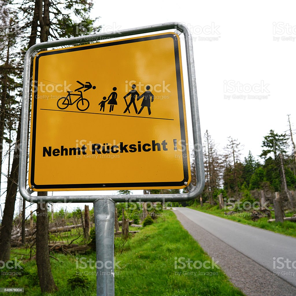 Wanderweg stock photo