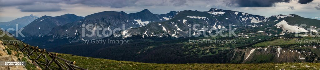 Trail Ridge Panorama stock photo