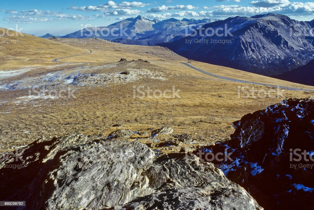 Trail Ridge Road on the Continental Divide stock photo