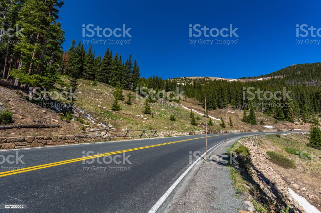 Trail Ridge Road in Rocky Mountain National Park stock photo