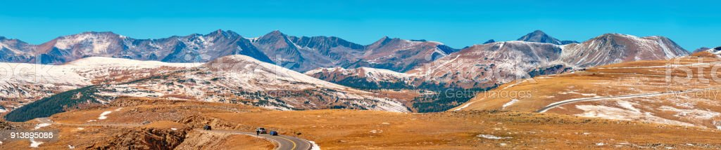 Trail Ridge Road in Rocky Mountains National Park Colorado USA stock photo
