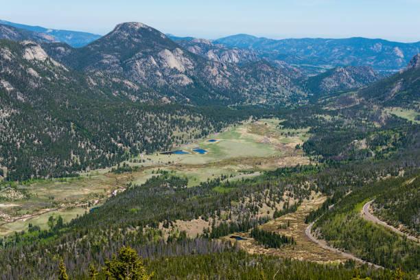 Trail Ridge Road, Rocky Mountain National Park stock photo