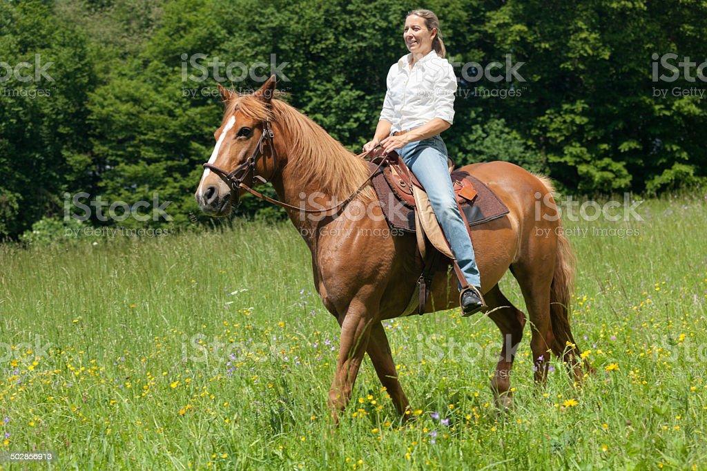 trail riding stock photo