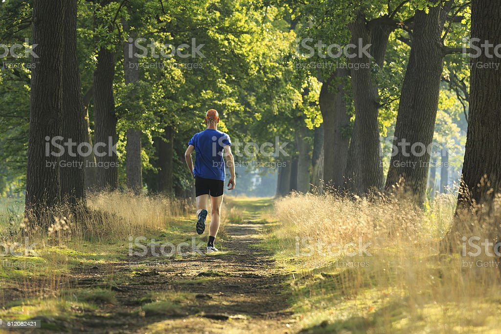 Trail run lane stock photo