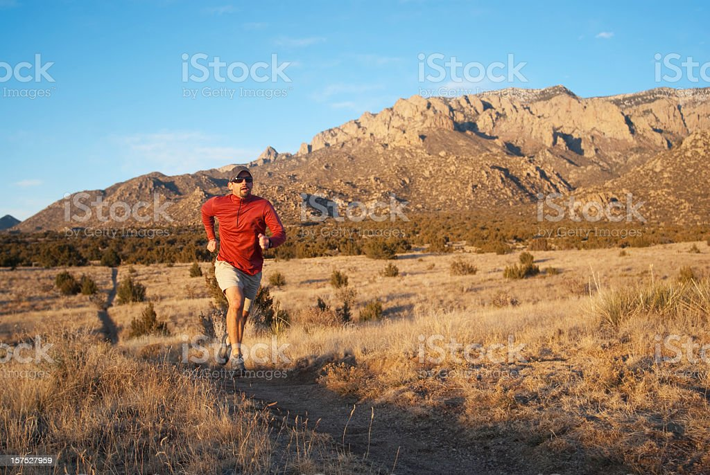 trail running! royalty-free stock photo