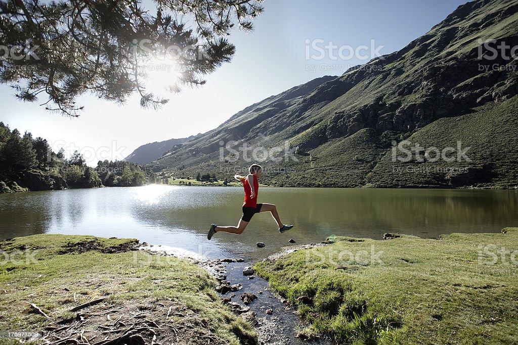 Trail running Lizenzfreies stock-foto