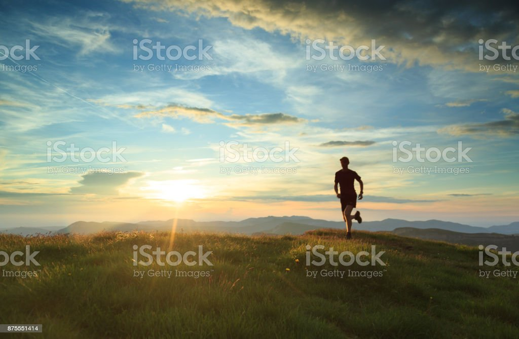 Trailrunning stock photo