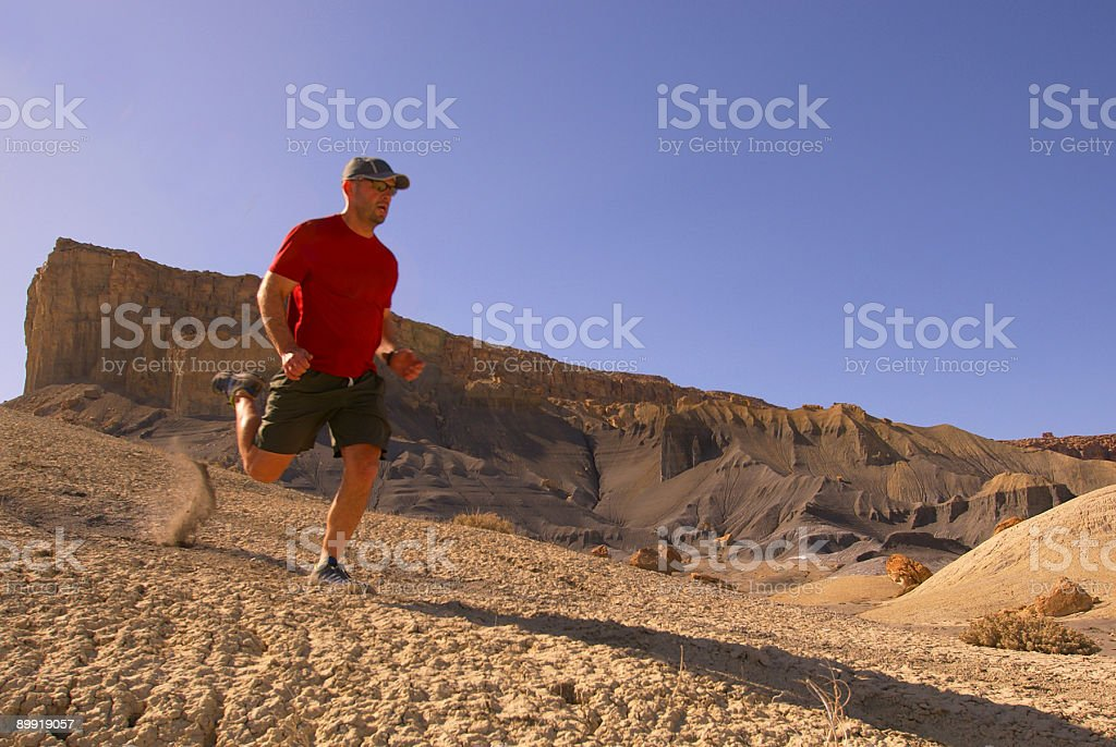 trail running! stock photo