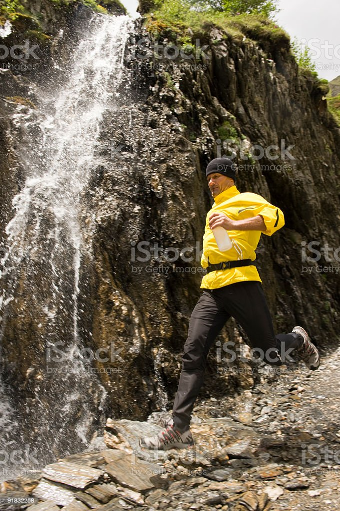 trail running stock photo