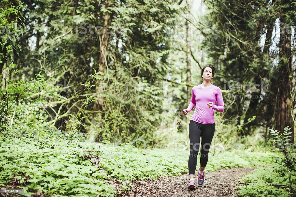 Trail Running Woman royalty-free stock photo