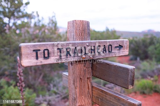 Trail signs in the desert near Sedona Arizona