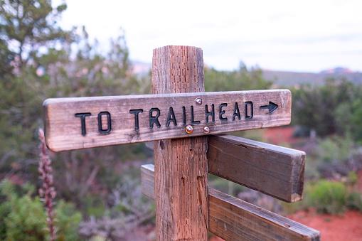 Trail signs in Sedona Arizona
