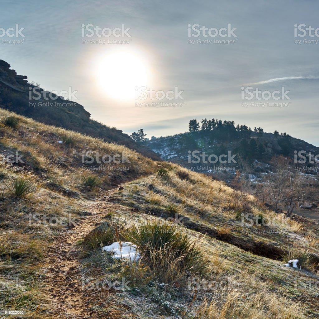 Trail Sunrise stock photo