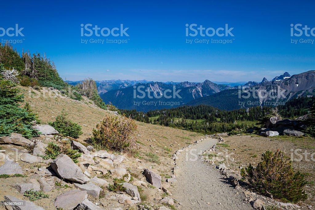 Trail Through the Mountains stock photo