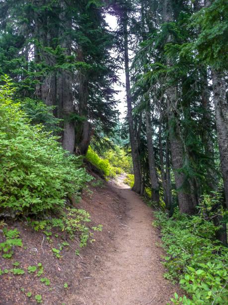 Trail to Lake Valhalla, Washington stock photo