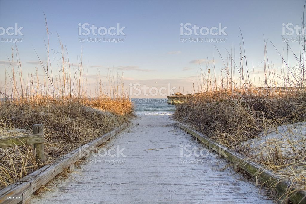 Trail To The Beach stock photo