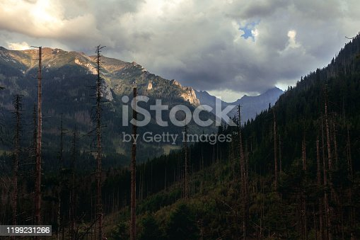 Mountain landscape in Tatras National Park in Poland