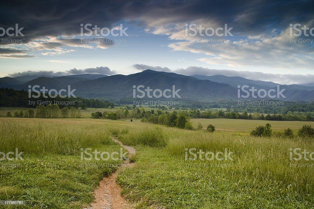 Trail to the Mountains royalty-free stock photo