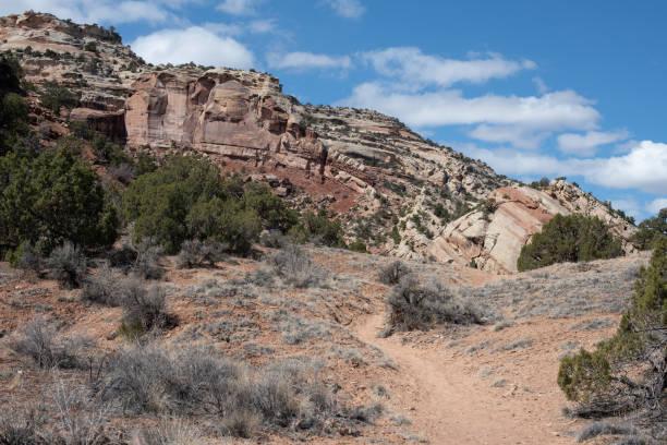 Trail toward the Monocline stock photo
