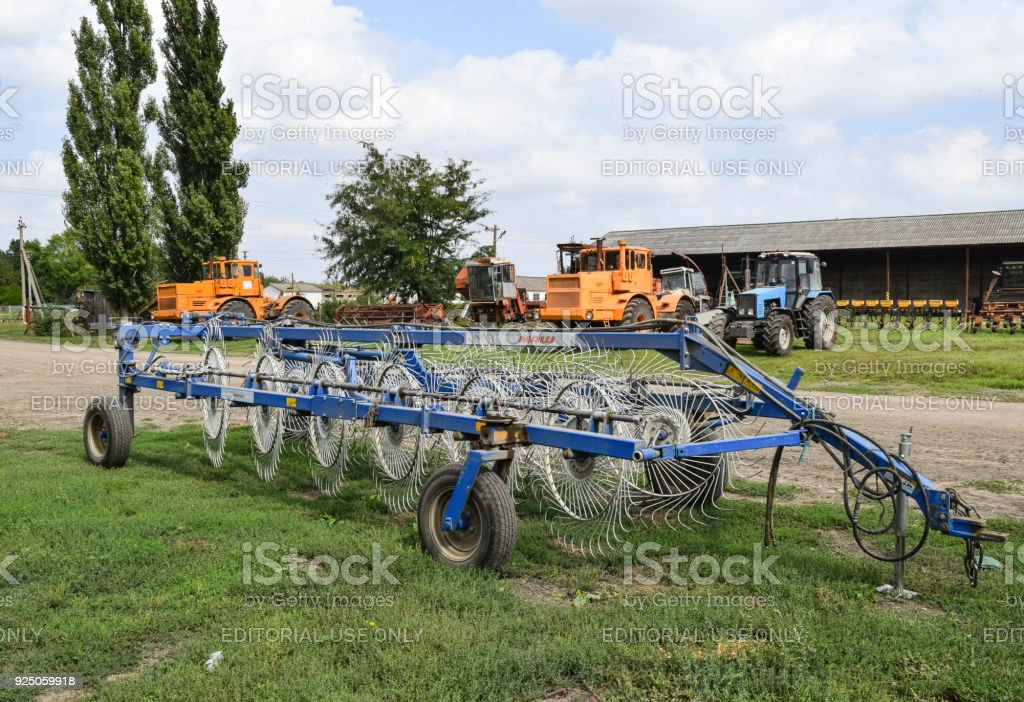 Trailer Hitch for tractors and combines stock photo