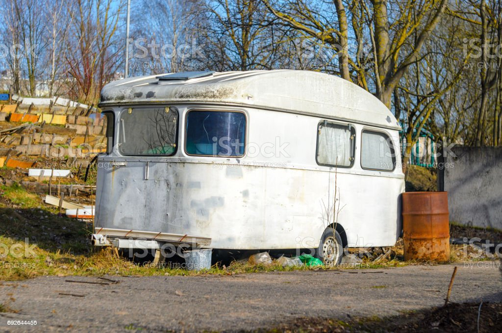 Trailer House Camper stock photo