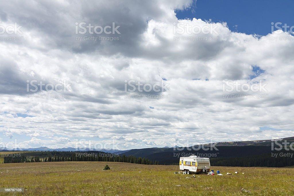 Trailer in Colorado royalty-free stock photo