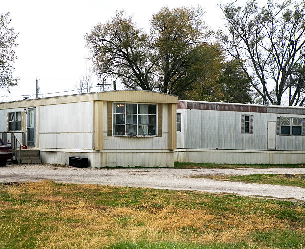 Trailer Park Mobile Homes Midwest America  trailer park stock pictures, royalty-free photos & images