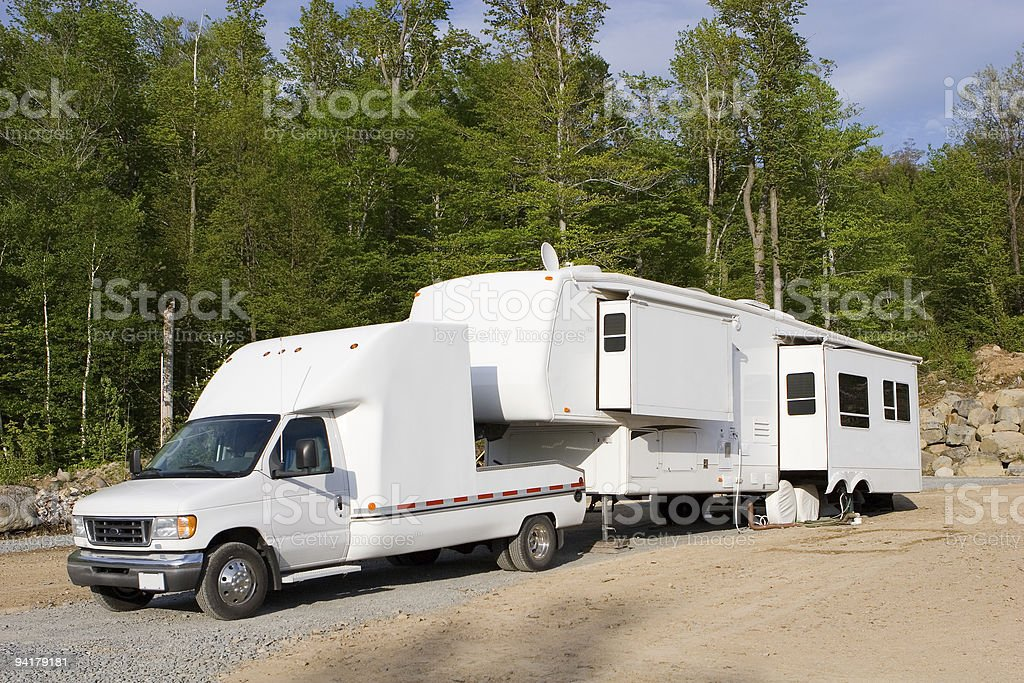 RV Trailer stock photo