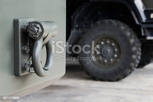 665295184 istock photo Trailer Rear tow hook for transportation. 467413868