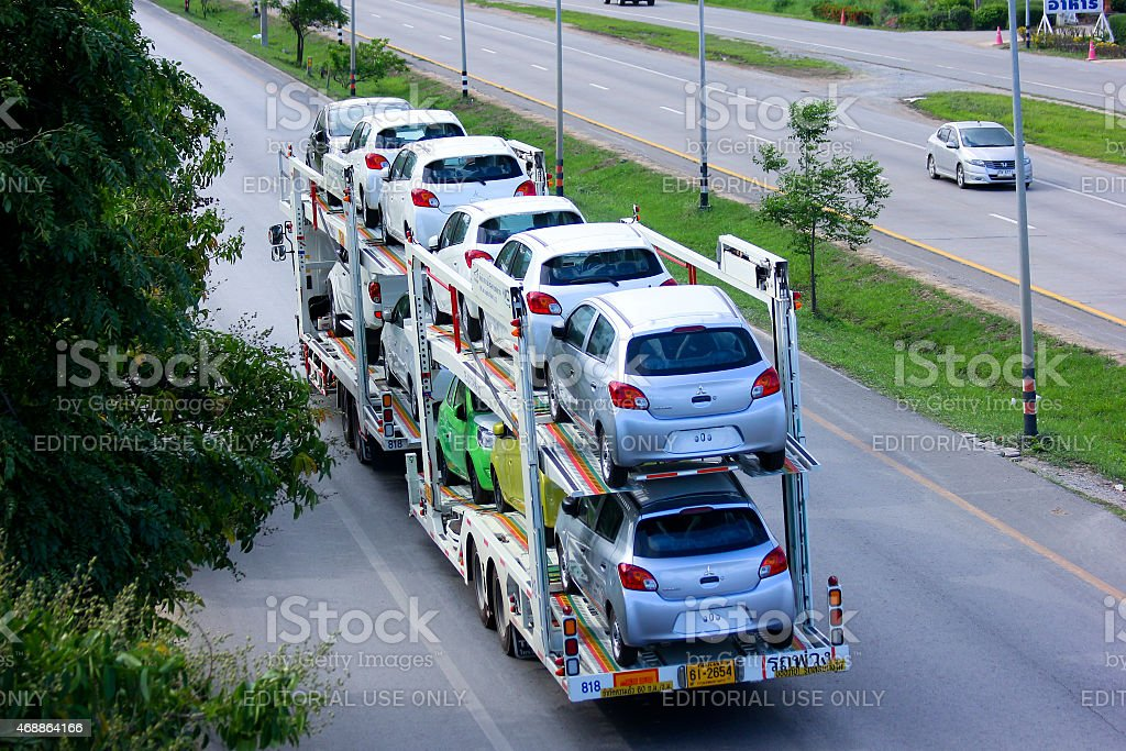 Trailer Truck Car stock photo