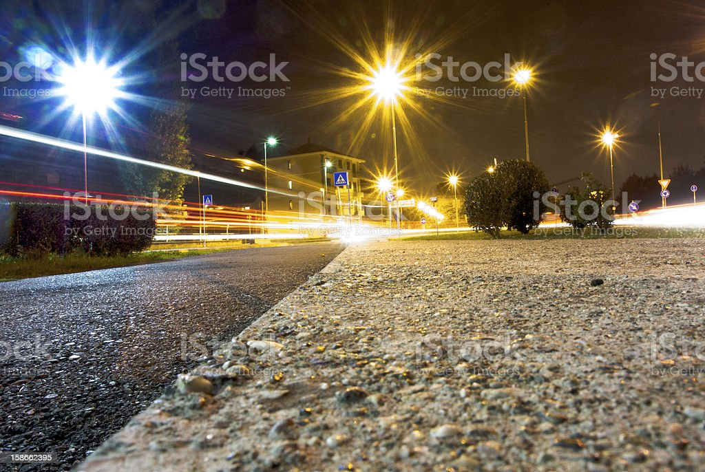 Trails at Nights royalty-free stock photo