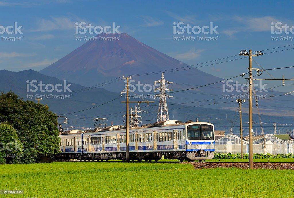Train and Mt.Fuji stock photo