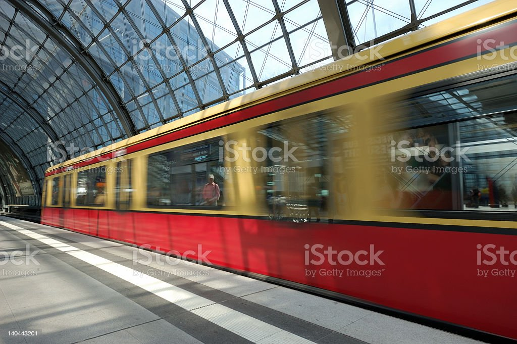 Train Arriving in the Station royalty-free stock photo
