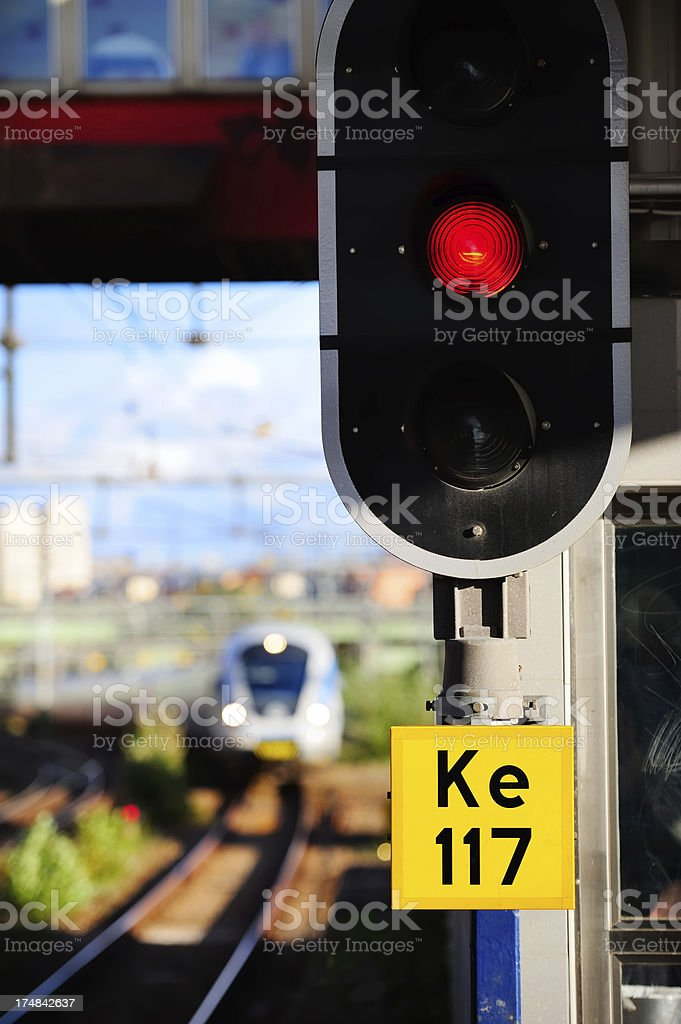 Train arriving royalty-free stock photo