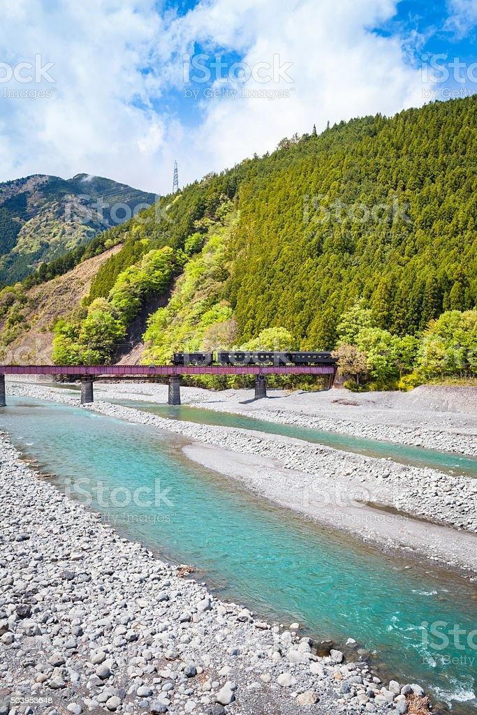 Tren en paisaje - foto de stock