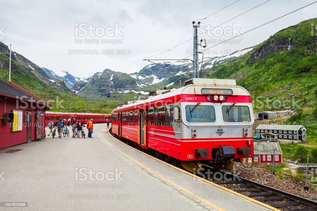 Train At Myrdal Norway Stock Photo - Download Image Now - iStock
