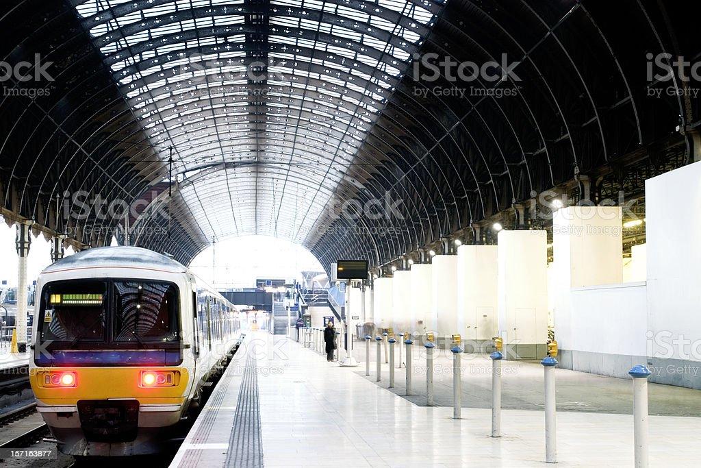 Train at platform stock photo