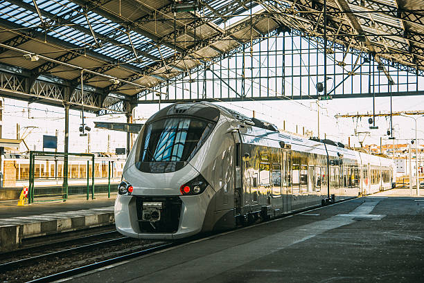 Train at station A train station in France electric train stock pictures, royalty-free photos & images
