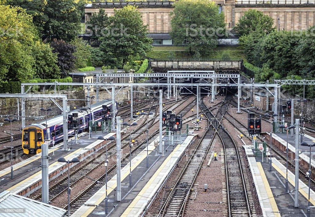 Train at Waverley Station stock photo